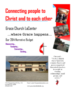 Grace Church LaCenter, KY Narrative Budget